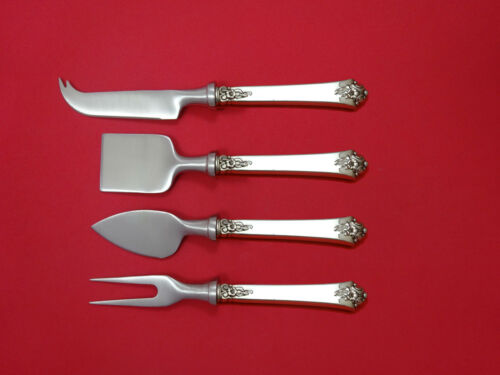Castle Rose by Royal Crest Sterling Cheese Serving Set 4 Piece HHWS  Custom