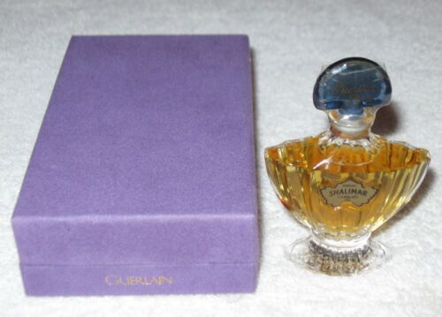 Vintage Guerlain Shalimar Perfume Bottle/Purple Box - 1/4 OZ - Sealed/Full