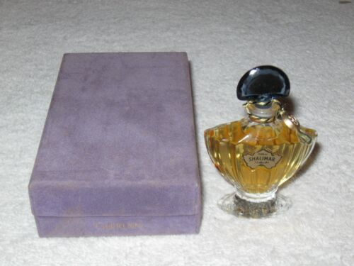Vintage Guerlain Shalimar Perfume Bottle/Purple Box - 1/4 OZ - Sealed/Full - #2