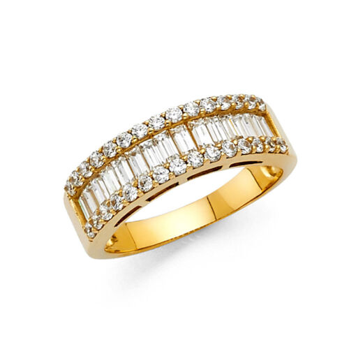 14k Solid Yellow Gold 1.75 Ct Diamond Wedding Band Anniversary Ring Baguette