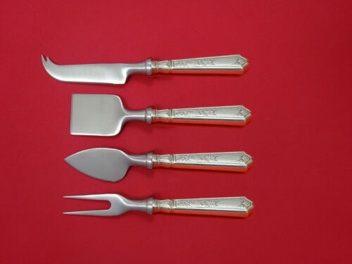 Saint Dunstan Chased by Tiffany Sterling Cheese Serving Set 4pc HHWS  Custom