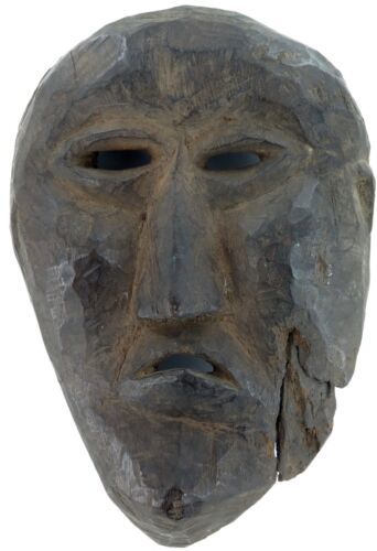 .cLATE 1800s MIDDLE HILLS AREA HIMALAYAN CARVED WOODEN MASK, VERY IMPRESSIVE! #3