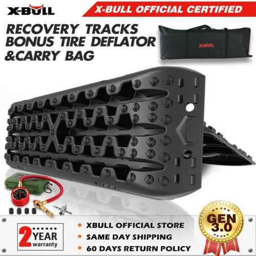 X-BULL Black Recovery Tracks Sand Track 10T 4WD Vehicle Sand/Snow/Mud Trax <br/> X-BULL TRACKS 3.0  Thanks to our customers!