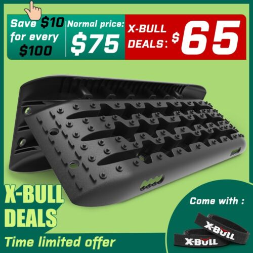 X-BULL Recovery Tracks Sand Mud Snow 1 pair Accessory 10T 4WD 4X4 Gen 2.0 <br/> BUY X-BULL authorized to ensure after-sale protection!