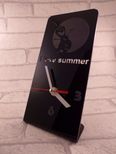 Frozen I love Summer  Plexiglass Desk Clock - DNB - 7