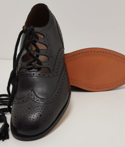 """Soft All Leather Scottish Ghillie Kilt Leather Brogue  Shoes """"48 HOUR SALE"""""""