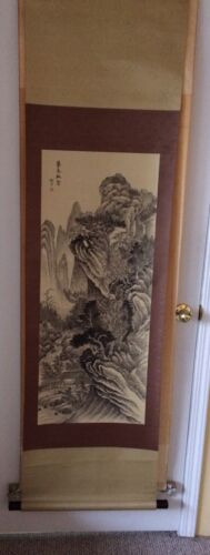 Chinese scroll painting Signed 山水畫謝勞