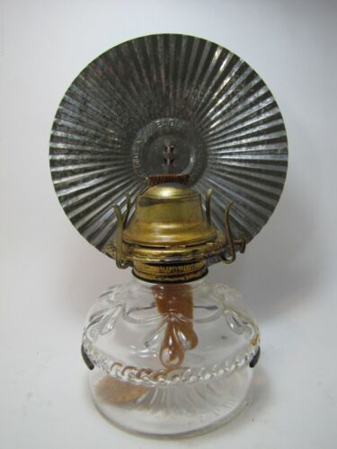 Old Eagle Oil Lamp with Original Tin Reflector light made in U.S.A. pat pending