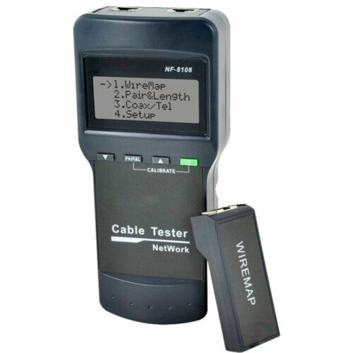 Doss NF8108 RJ45 LAN Cable Tester Length Faults Locator Remote Identifier LCD