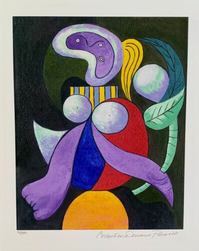Pablo Picasso WOMAN WITH A FLOWER Estate Signed & Numbered Small Giclee Art