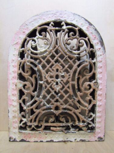 Antique Cast Iron Tombstone Scroll Grate Vent ornate old architectural hardware