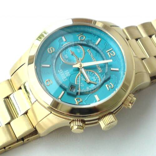 NEW Authentic Michael Kors Hunger Stop Oversized Gold Tone Unisex Watch MK 8315