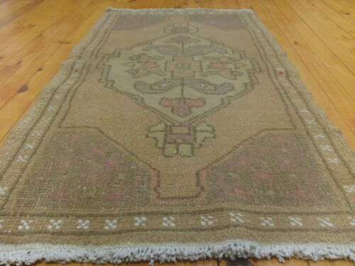 """Bohemian Antique 1900-1939's Muted Natural  Dye Oushak Area Rug 2'x3'8"""""""