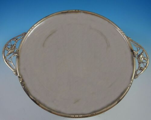 William De Matteo Sterling Silver Sandwich Tray with Blossom #112H (#1415)