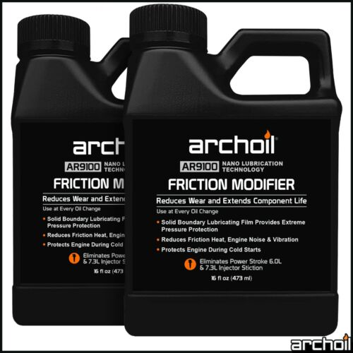 Archoil AR9100 Friction Modifier VALUE PACK - 2 x 16oz AR9100 - PowerStroke Fix <br/> FAST AND FREE SHIPPING DIRECT FROM ARCHOIL