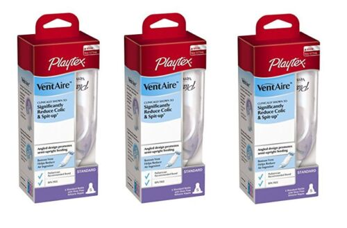 Playtex BPA Free VentAire Standard Bottle, 6 Ounce (3 Pack)