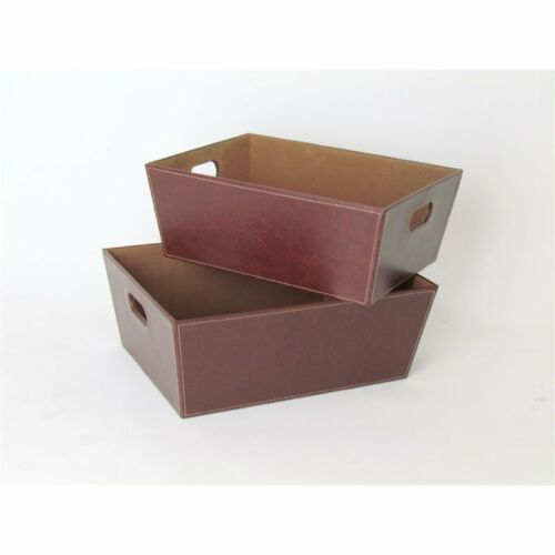 Wayborn Leather Tray in Brown