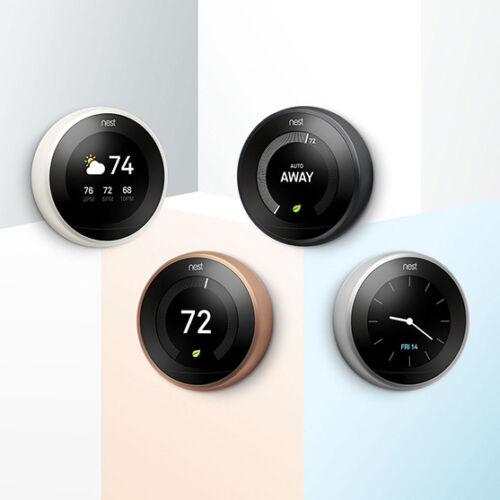 NEST LEARNING THERMOSTAT 3rd GENERATION T3010GB IN DIFFERENT COLOURS- IN STOCK!!