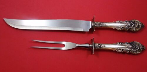 """Sir Christopher by Wallace Sterling Silver Roast Carving Set 2pc HHWS  13 1/2"""""""