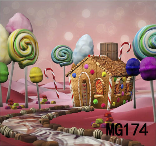 Candyland Candy Vinyl Photography Background Backdrop Studio Props 3x5FT MG174