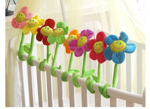 Baby Kid Child Toy Nursery Crib Bed Around Room Curtain Decor Plush Flowers Toy