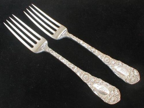 Durgin CHRYSANTHEMUM heavy dinner fork(s)