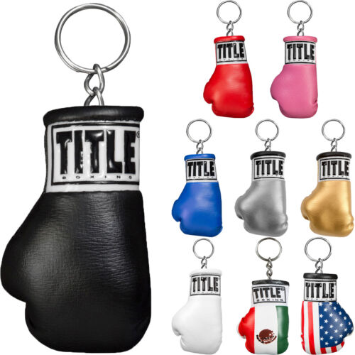 Title Boxing Authentic Detailed Mini Lace Up Glove Keychain <br/> Exclusive Seller of TITLE Boxing on eBay