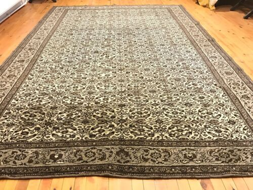 Authentic Ca1900-1939s Antique Turkish Natural Wool Pile Hereke Rug 7x10ft