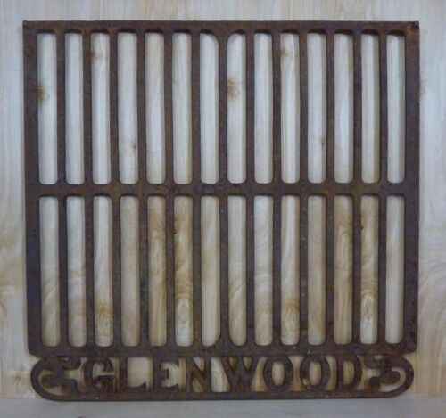 Antique Cast Iron GLENWOOD Stove Grill Cover Plate Advertising Wall Plaque Sign