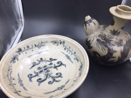 Two Ming Dynasty Porcelain: A Charger And A Kendi