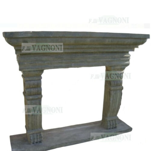 CAMINO IN TRAVERTINO CM140 CAMINETTO MARMO PIETRA 062 fireplace travertine stone