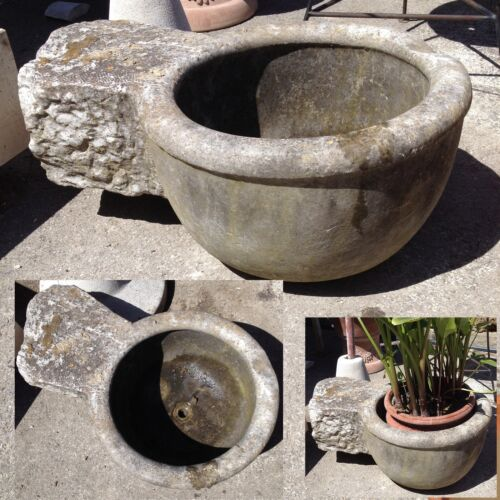 ANTICA VECCHIA ACQUASANTIERA IN MARMO cm. 68 -ancient marble holy water font