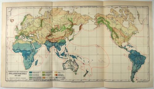 1888 Map of the World's Plant Groups by Meyers