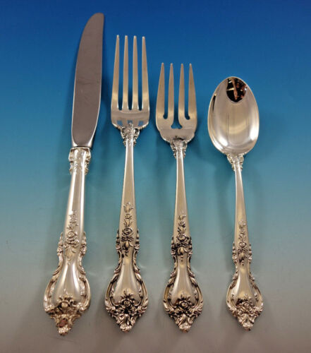 Delacourt by Lunt Sterling Silver Flatware Set for 12 Service 54 pieces