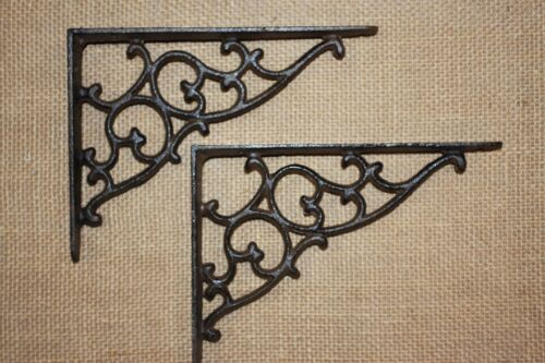"(3)pcs, VICTORIAN DESIGN SHELF BRACKETS, 7 1/8"", CAST IRON, CORBELS, MEDIUM, B-1"