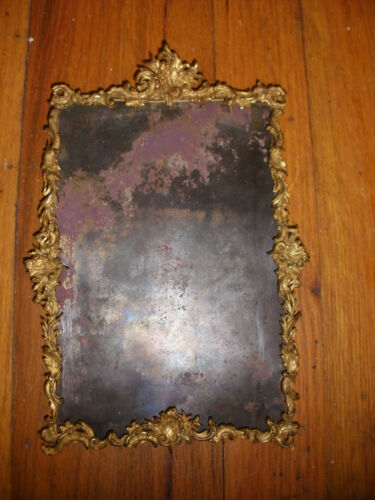 "Nice Antique 19thc French ? bronze ornate picture frame 8.5""x 5.5""  7""x5"""