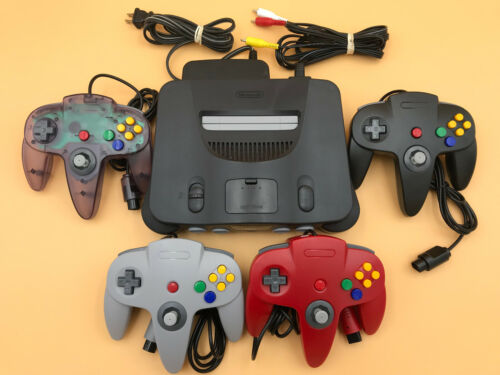 N64 Nintendo 64 Console + UP TO 4 NEW CONTROLLERS + Cords + CLEANED INSIDE & OUT