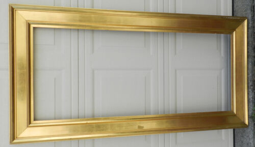 Antique Water Gilding Lemon Gilt EMPIRE Picture Frame Gold Leaf 20x48 OverMantel