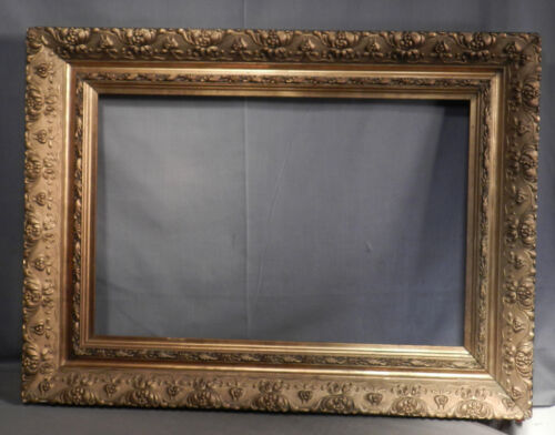 Antique Gilt Gesso Wood Victorian Art Nouveau Crafts Picture Frame 16x24