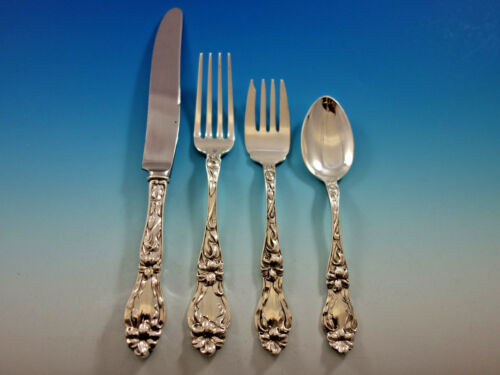 Lily by Frank Whiting Sterling Silver Flatware Set 8 Service 32 pcs