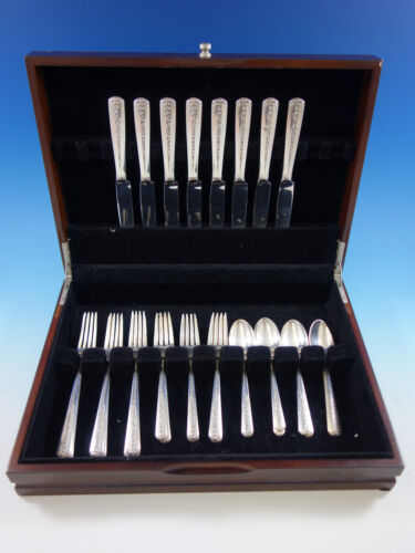 Rambler Rose by Towle Sterling Silver Flatware Set for 8 Service 32 pieces