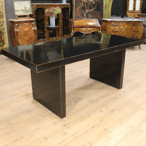 TABLE SECRETARY DESK WOOD LACQUERED BLACK MODERN DESIGN CHINESE PERIOD '