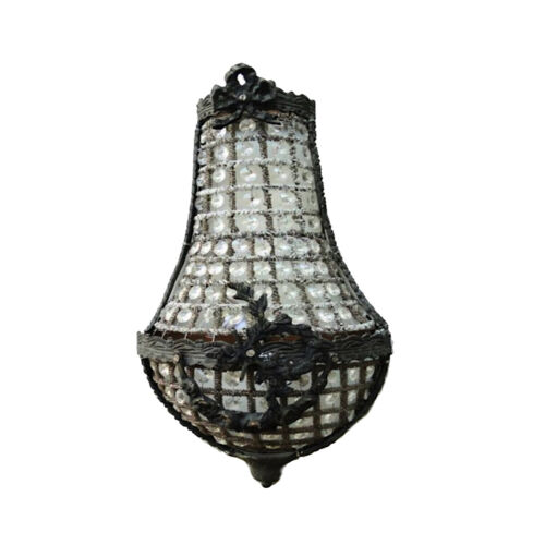 """European Crystal Antique Replica Chateau Wall Sconce Light Fixture 17"""""""