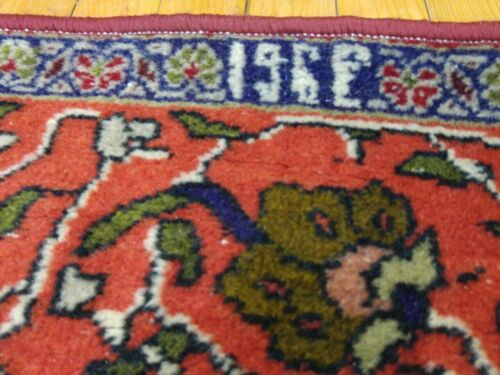 Exquisite Antique 4x6ft Natural Dyes,Dated 1931 Primitive Hereke Rug