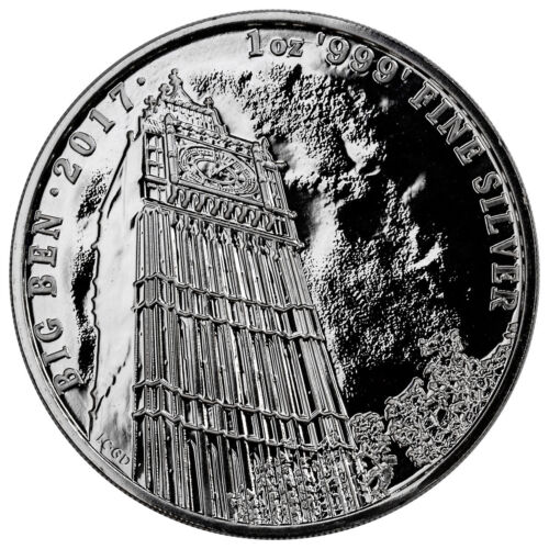 2017 Great Britain 1 oz. Silver Landmark of Britain Big Ben £2 Mint Cap SKU47505 <br/> Buy With Confidence from ModernCoinMart (MCM) on ebay