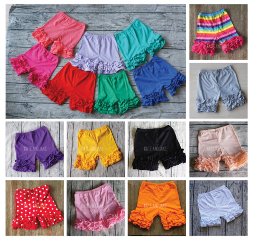 Ruffle Shorts, Icing Ruffle Shorties Girls, Rainbow ruffle Shorts, 12m-10 years