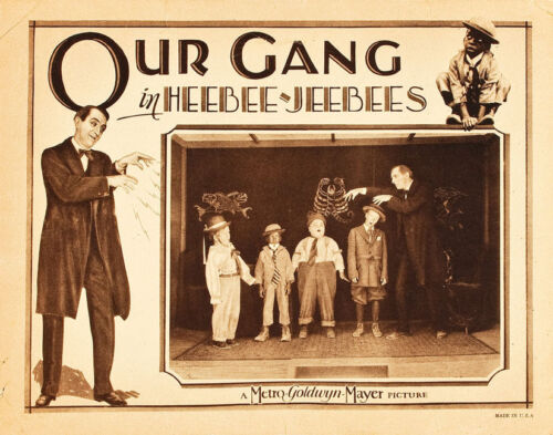 """Little Rascals Our Gang in Heebee-Jeebees Lobby Card Replica 14 x 11"""" Photo"""