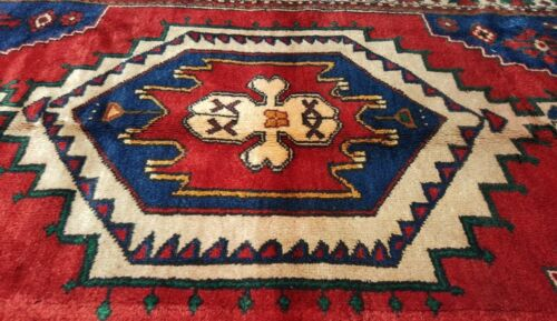Stunning Antique 1930-1940s Indigo  Dyes Wool Pile 5x8ft Tribal Dowry Rug