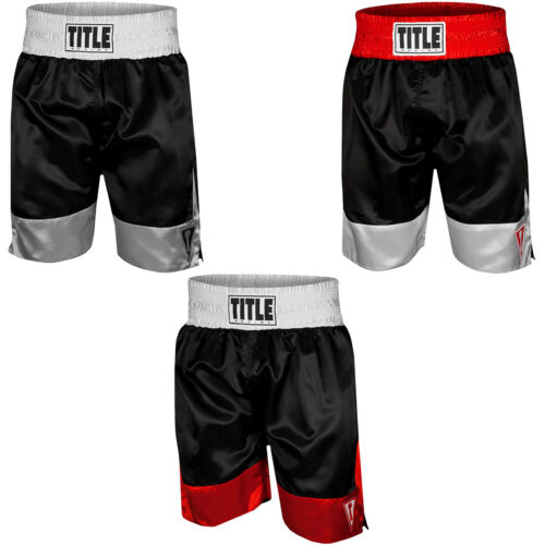 """Title Boxing Force 4"""" Waistband Satin Boxing Trunks <br/> Exclusive Seller of TITLE Boxing on eBay"""