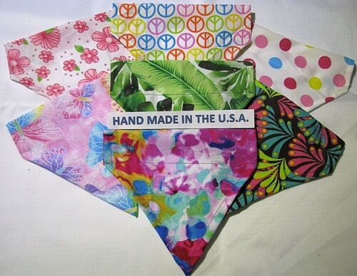 Over-the-Collar Bandana TROPICAL/SUMMER - Dog/Cat/Ferrit/Large/Small Breeds USA